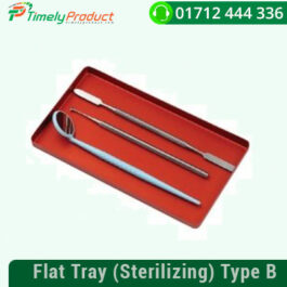 Flat Tray (Sterilizing) Type B FEATURES: Sterilizing tray. Ideal for Operatory Instruments. Anodized Aluminum Dimensions: 180x 10x 100m/m (WxHXD).