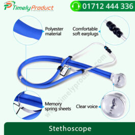 COFOE PVC Dual Tube Professional Stethoscope for Cardiology & General (Blue)-1