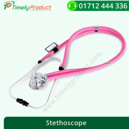COFOE PVC Dual Tube Professional Stethoscope for Cardiology & General (Pink)-1