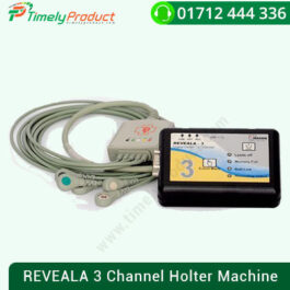 REVEALA 3 Channel Holter Machine The 3-channel solid state Digital Holter system records and enables electro-cardiogram classification, analysis, review, and reporting, arrhythmic disorders. Dimensions: L 108 X B 69 X H 41 mm Weight: 200 gms. The 3 channel solid state Digital Holter system records and enables electrocardiogram, arrhythmic disorders to be classified, analyzed, reviewed and reported. Key Feature Available in models of 3 and 12 channels Detects 12 arrhythmia types. Analysis of cardiac rate variability (HRV)